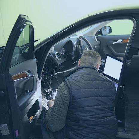 Установка системы игла на автомобиль
